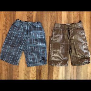 Micros Boys Size 7 plaid shorts